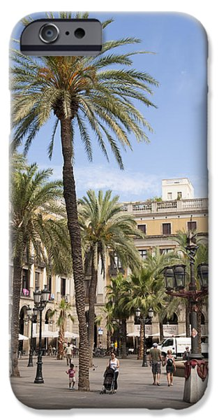 Barcelona Placa Reial iPhone Case by Matthias Hauser