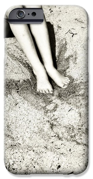 barefoot in the sand iPhone Case by Joana Kruse
