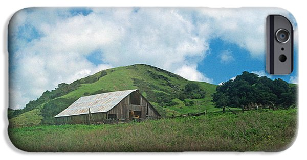 Barn Print Photographs iPhone Cases - Barn on the Hill iPhone Case by Kathy Yates