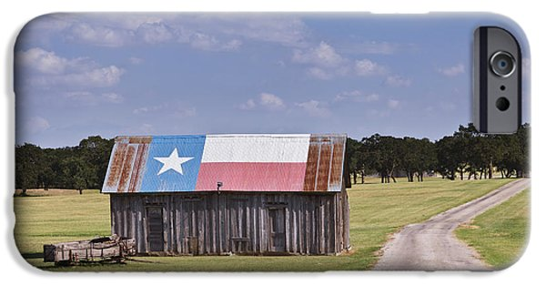 Barns Photographs iPhone Cases - Barn Painted as the Texas Flag iPhone Case by Jeremy Woodhouse