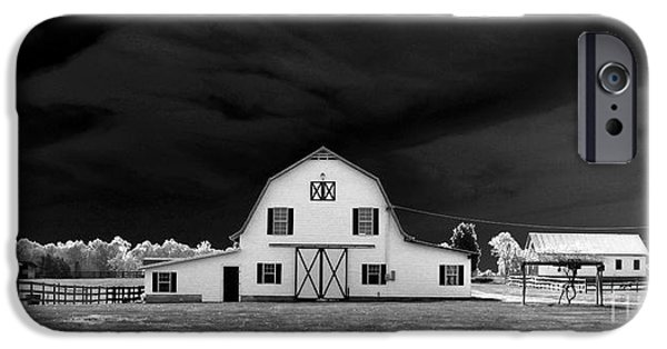 Barns Photographs iPhone Cases - Barn storm iPhone Case by Julian Bralley