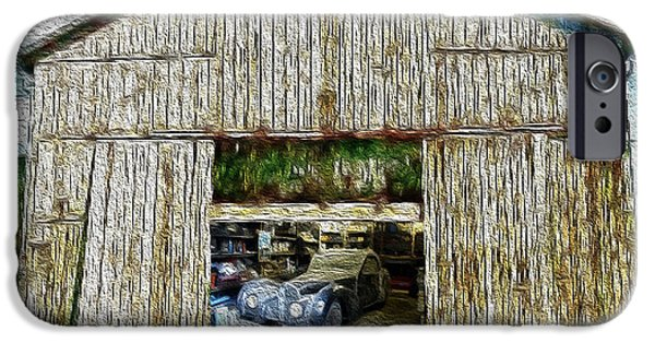 Old Barns iPhone Cases - Barn Treasures iPhone Case by Cheryl Young