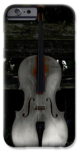 Barnyard Digital Art iPhone Cases - Barnyard Cello iPhone Case by Steven  Digman