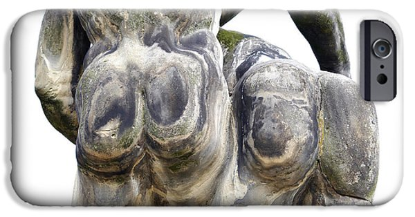 Fun Sculptures iPhone Cases - Baroque Statue - Detail - Backside iPhone Case by Michal Boubin