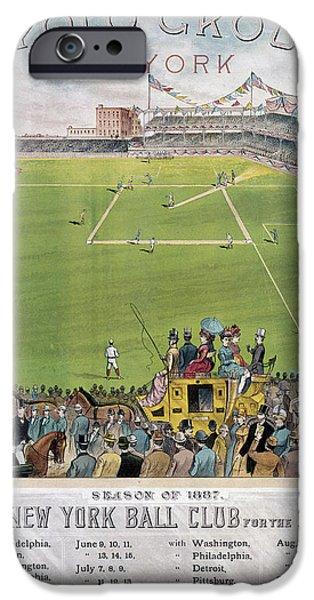 BASEBALL, 1887 iPhone Case by Granger