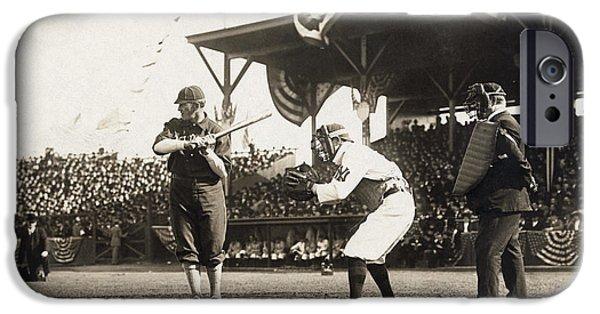 Baseball Glove iPhone Cases - Baseball Game, 1909 iPhone Case by Granger