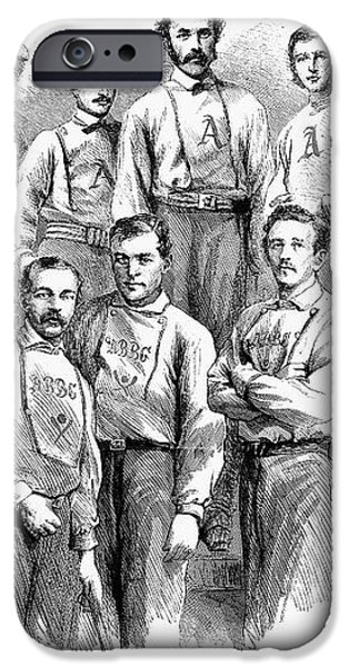 BASEBALL TEAMS, 1866 iPhone Case by Granger