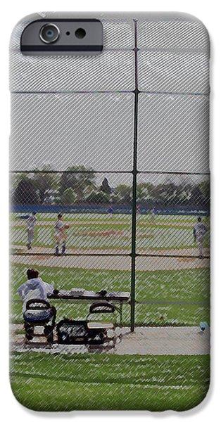 Baseball Warm Ups Digital Art iPhone Case by Thomas Woolworth