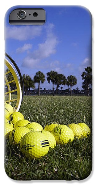 Basket of Golf Balls iPhone Case by Skip Nall