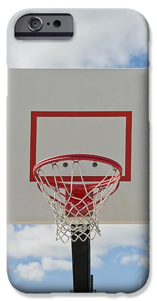 Basketball Backboard With Hoop and Net iPhone Case by Thom Gourley/Flatbread Images, LLC