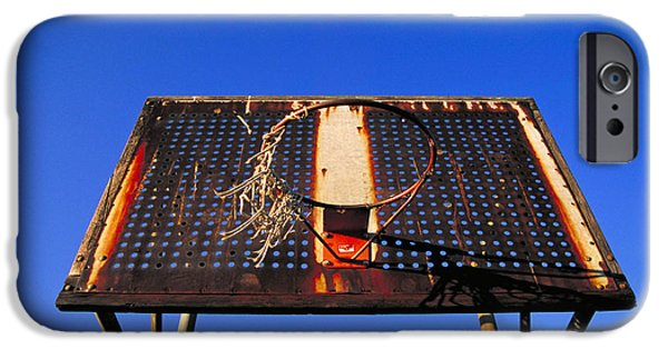 Hard Court iPhone Cases - Basketball net iPhone Case by John Greim