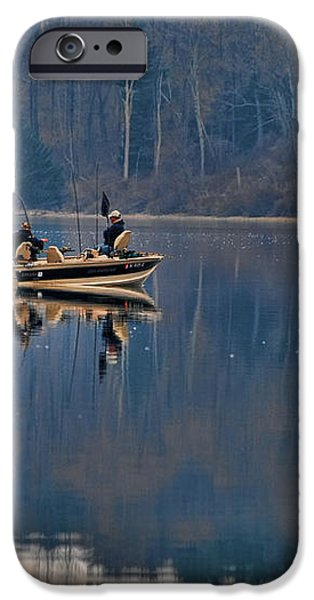Bass Fishing iPhone Case by Paul Ward