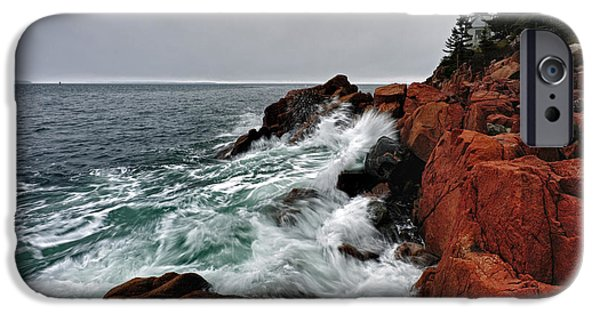 Tide iPhone Cases - Bass Harbor Head Lighthouse iPhone Case by Rick Berk