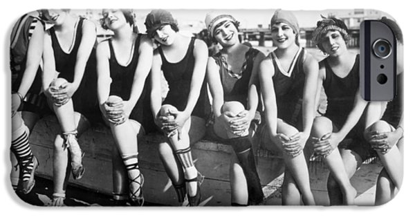 1916 Photographs iPhone Cases - Bathing Beauties, 1916 iPhone Case by Granger