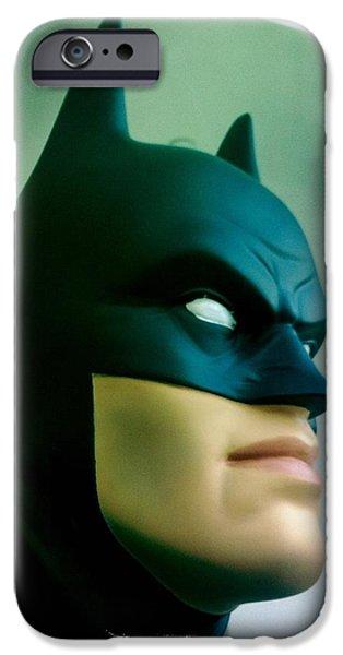 Batman aka The Dark Knight iPhone Case by Nina Prommer