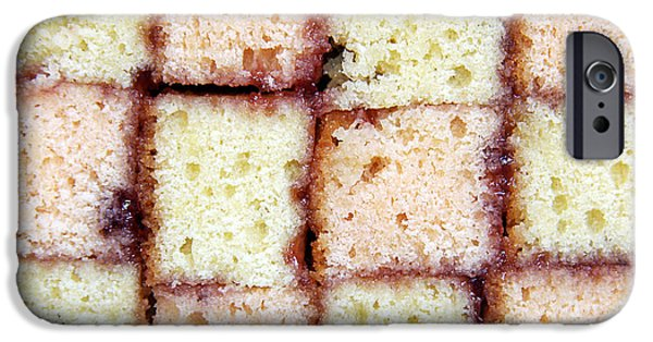 Sponge iPhone Cases - Battenburg cake iPhone Case by Jane Rix