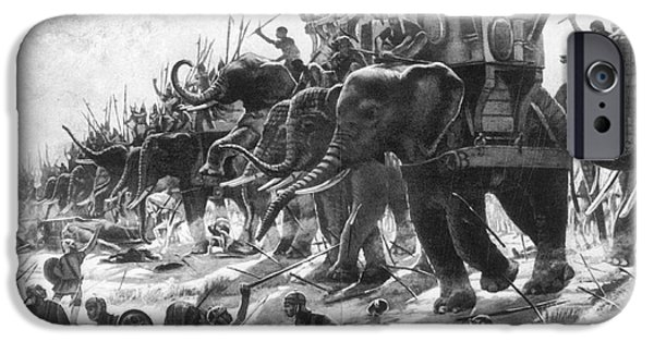 Elephant iPhone Cases - Battle Of Zama, Hannibals Defeat iPhone Case by Photo Researchers