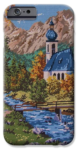 Architecture Tapestries - Textiles iPhone Cases - Bavarian Country iPhone Case by M and L Creations Craft Boutique