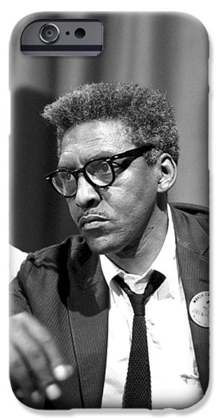 Press Conference iPhone Cases - Bayard Rustin (1912-1987) iPhone Case by Granger