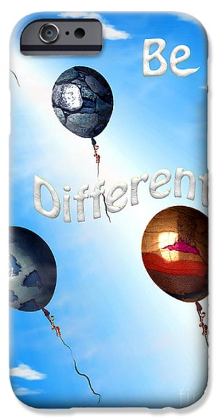 Empower iPhone Cases - Be Different iPhone Case by Cheryl Young