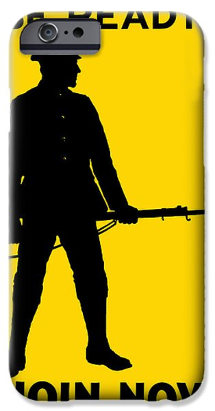 Political Mixed Media iPhone Cases - Be Ready Join Now iPhone Case by War Is Hell Store