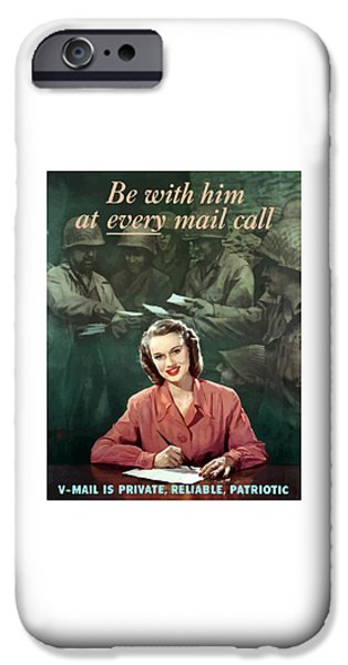 Recently Sold -  - Ww1 iPhone Cases - Be With Him At Every Mail Call iPhone Case by War Is Hell Store