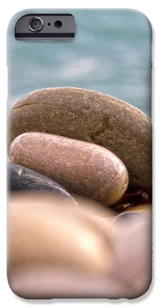 beach and stones iPhone Case by Stylianos Kleanthous