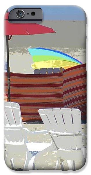 Beach Chairs iPhone Case by Lori Seaman