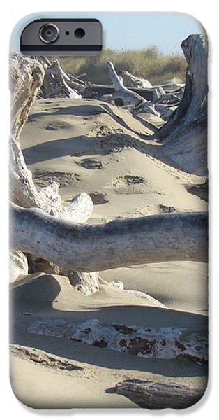 Beach Driftwood art prints Coastal Sand Dunes Shore iPhone Case by Baslee Troutman