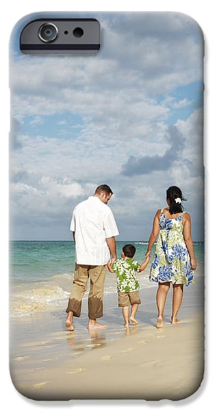 Youthful iPhone Cases - Beach Family iPhone Case by Brandon Tabiolo - Printscapes