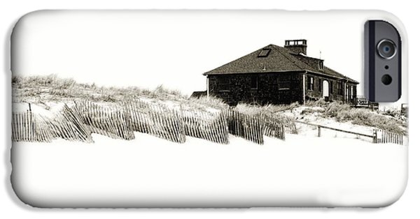 Fine Artwork iPhone Cases - Beach House - Jersey Shore iPhone Case by Angie Tirado
