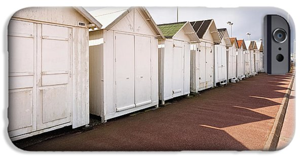 Bathing iPhone Cases - Beach Huts iPhone Case by Jon Boyes