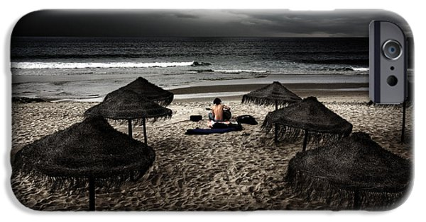 Artist Photographs iPhone Cases - Beach Minstrel iPhone Case by Carlos Caetano