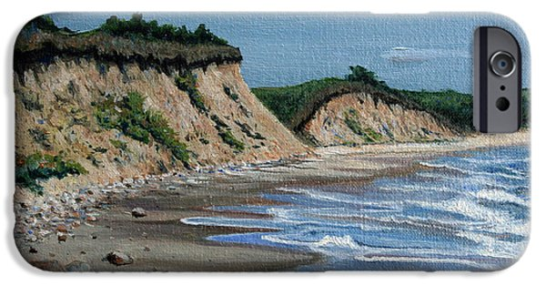 Dunes Paintings iPhone Cases - Beach iPhone Case by Paul Walsh