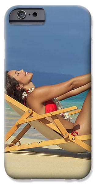 Beach Stretches iPhone Case by Tomas del Amo
