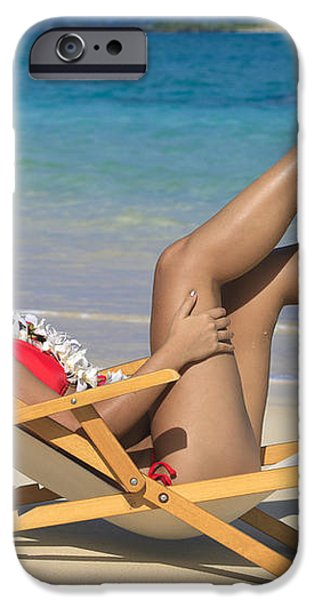 Beach Stretching II iPhone Case by Tomas del Amo