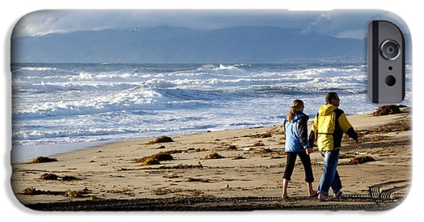 Couple iPhone Cases - Beach Stroll iPhone Case by Jeff Lowe