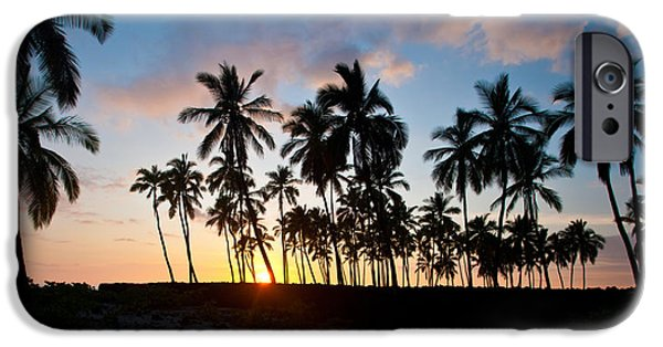 Refuge iPhone Cases - Beach Sunset iPhone Case by Mike Reid