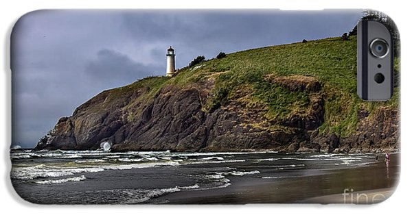Cape Disappointment iPhone Cases - Beach View iPhone Case by Robert Bales