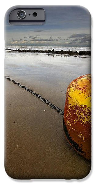 beached mooring buoy iPhone Case by Meirion Matthias