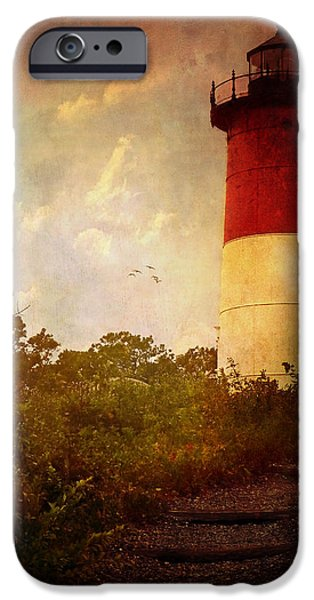 Cape Cod Lighthouse iPhone Cases - Beacon of Hope iPhone Case by Lianne Schneider