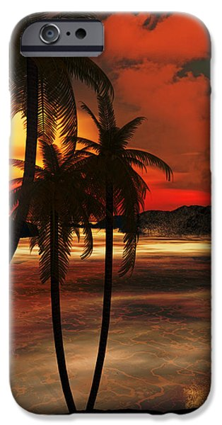 Lighthouse Digital iPhone Cases - Beacon Of Light iPhone Case by Lourry Legarde
