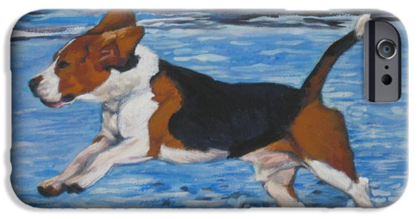 Beagle iPhone Cases - Beagle iPhone Case by Lee Ann Shepard