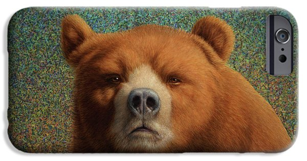 Mammals iPhone Cases - Bearish iPhone Case by James W Johnson