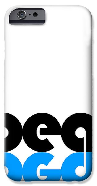 Sound Digital Art iPhone Cases - Beat Poster iPhone Case by Naxart Studio