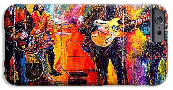 Paul Mccartney Paintings iPhone Cases - Beatles Last Concert on the roof iPhone Case by Leland Castro
