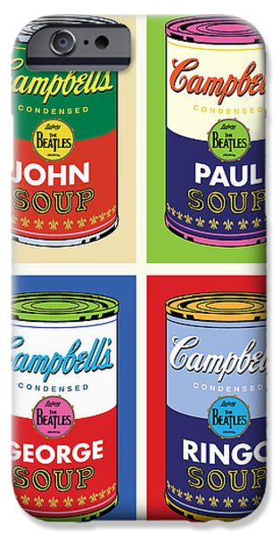 Airbrush iPhone Cases - Beatles Soup iPhone Case by Gary Grayson
