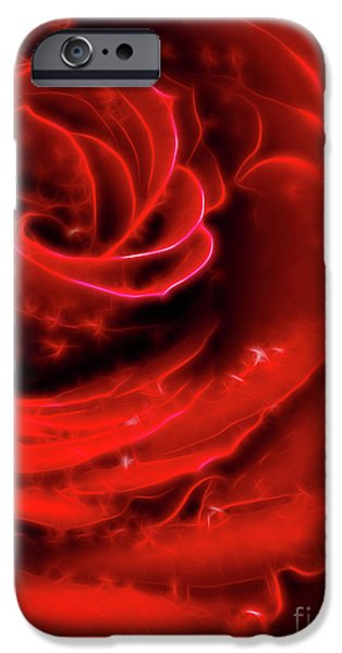 Beautiful Abstract Red Rose iPhone Case by Oleksiy Maksymenko