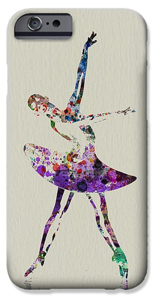 Relationship Paintings iPhone Cases - Beautiful Ballerina iPhone Case by Naxart Studio