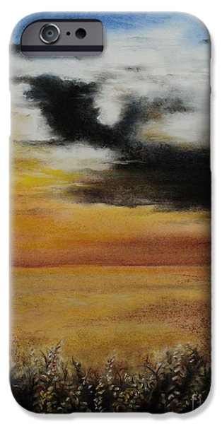Clouds Pastels iPhone Cases - Beautiful Beginnings iPhone Case by Carla Carson